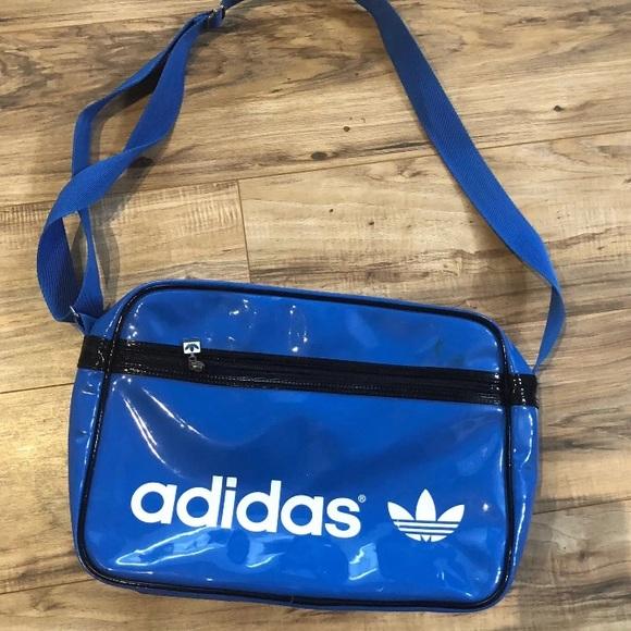 ef086e760c4 adidas Bags   Originals Blue Vtg Messenger Airliner Bag   Poshmark